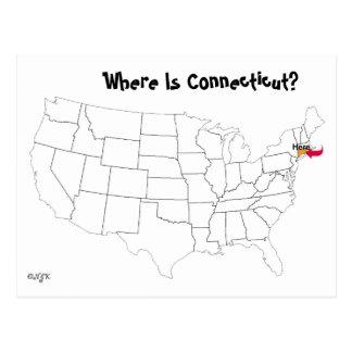 コネチカットはどこにありますか。 ポストカード