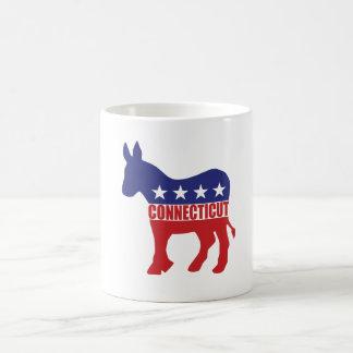 コネチカット民主党員のろば コーヒーマグカップ