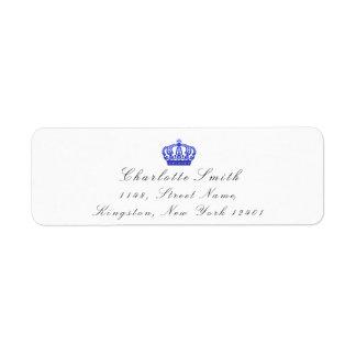 コバルトのグリッターRSVPの皇太子妃の花嫁の白 ラベル