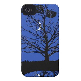 コバルトブルーおよび黒のMoonscape Case-Mate iPhone 4 ケース