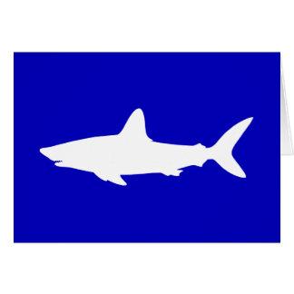 コバルトブルーそしてホオジロザメのシルエットは感謝していしています カード