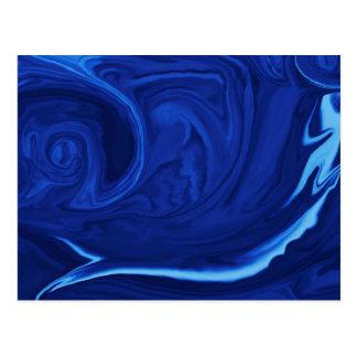 コバルトブルーの背景の織り目加工のハンドメイド ポストカード