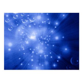 コバルトブルーの銀河系の破烈 ポストカード