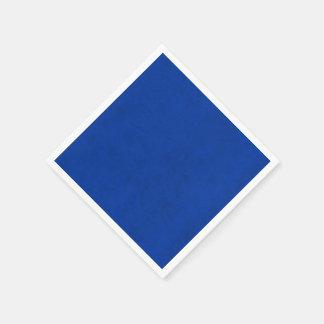 コバルトブルー色のビロードのカスタムな家のカジノ スタンダードカクテルナプキン