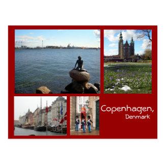 コペンハーゲンのコラージュ ポストカード