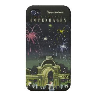 コペンハーゲンのヴィンテージ旅行ケース iPhone 4/4Sケース
