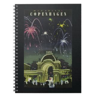 コペンハーゲンのヴィンテージ旅行ノート ノートブック