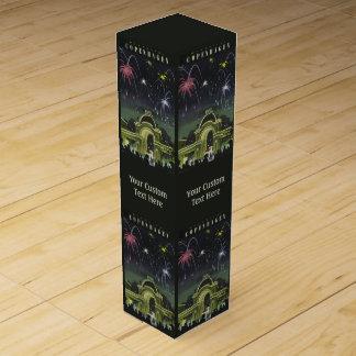 コペンハーゲンのヴィンテージ旅行ワイン用化粧箱 ワインギフトボックス