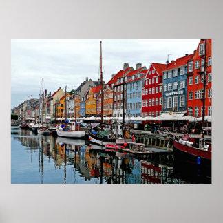コペンハーゲンの早朝 ポスター