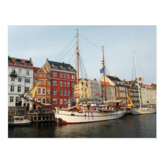 コペンハーゲンの船 ポストカード
