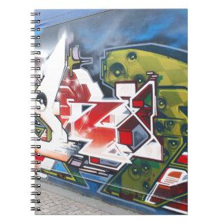 コペンハーゲンの通りの落書きの芸術 ノートブック
