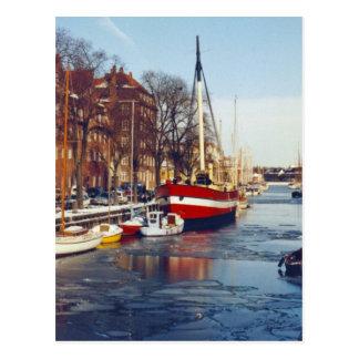 コペンハーゲンの郵便はがきの冬 ポストカード