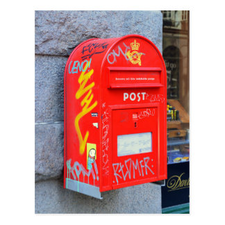 コペンハーゲン、デンマークのポスト ポストカード