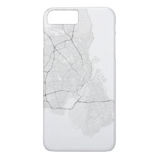 コペンハーゲン、デンマークの地図。 (白の黒) iPhone 8 PLUS/7 PLUSケース