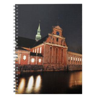 コペンハーゲン、デンマークのHolmens教会(Kirke) ノートブック