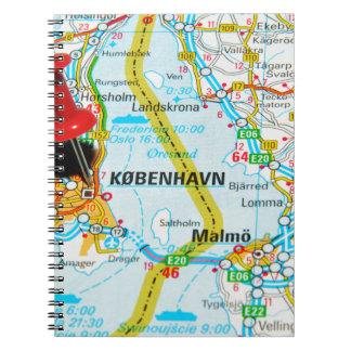 コペンハーゲン、デンマークのKøbenhavn ノートブック