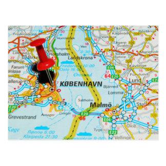 コペンハーゲン、デンマークのKøbenhavn ポストカード