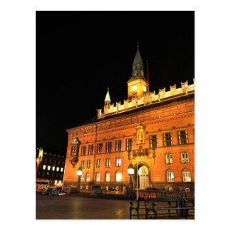 コペンハーゲン、夜のデンマーク ポストカード