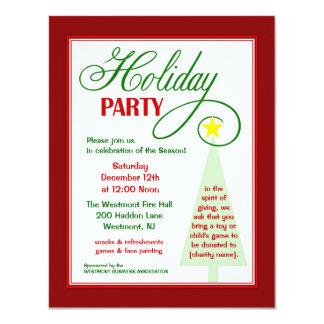コミュニティイベントの休日のパーティの招待状 カード