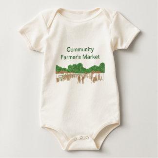 コミュニティファーマーズマーケットのTシャツ ベビーボディスーツ