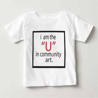 コミュニティ芸術のロゴ ベビーTシャツ