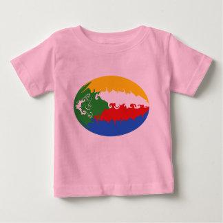 コモロのすごい旗のTシャツ ベビーTシャツ