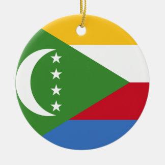 コモロの国民の世界の旗 セラミックオーナメント