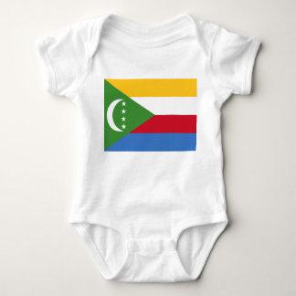 コモロの国民の世界の旗 ベビーボディスーツ