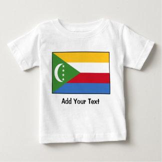 コモロ- Comoranの旗 ベビーTシャツ