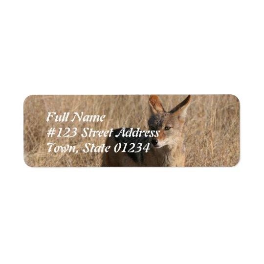 コヨーテの差出人住所の郵送物のラベル 返信用宛名ラベル