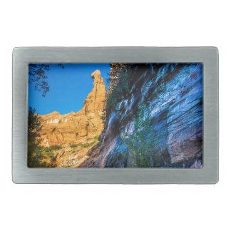 コヨーテの渓谷の日の出-ユタ 長方形ベルトバックル