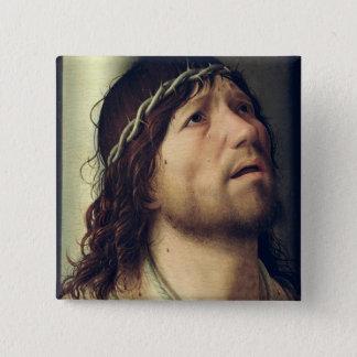 コラムのキリスト、c.1475 5.1cm 正方形バッジ