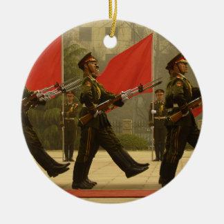 コラムの中国のな軍の儀仗兵 セラミックオーナメント