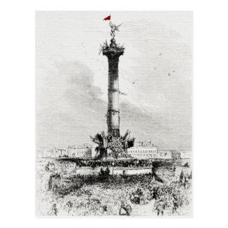 コラム、Place de la Bastill、パリ ポストカード