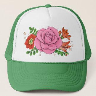 コラージュのトラック運転手の帽子の帽子(緑) キャップ