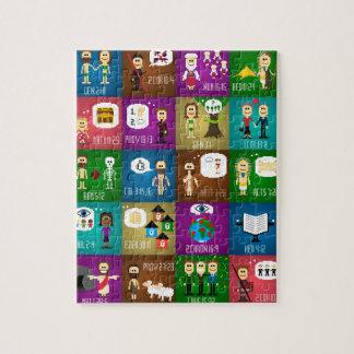 コラージュのパズル ジグソーパズル
