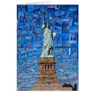 コラージュ自由の女神-芸術自由の女神 カード