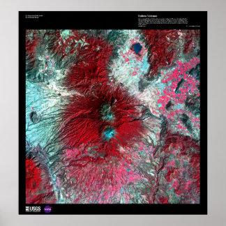 コリマ州の火山メキシコ プリント