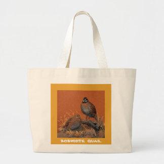コリンウズラ(ジョージア、ミズーリおよびテネシー州) ラージトートバッグ
