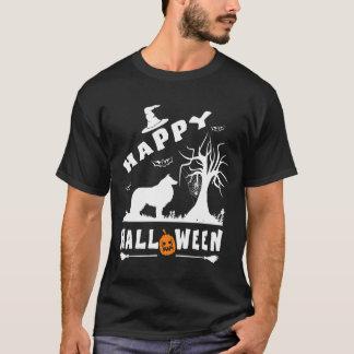 コリーの荒いハッピーハローウィンの愛犬家のギフト Tシャツ