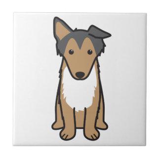 コリー犬の漫画 タイル