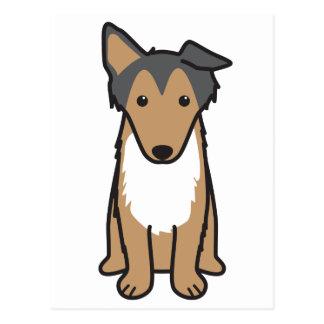 コリー犬の漫画 ポストカード