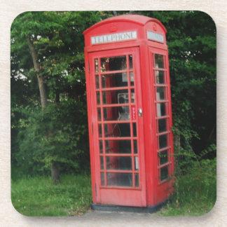 コルクのコースターの田舎赤い電話箱 コースター
