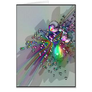 コルク-新年の泡--をぽんと鳴らします カード