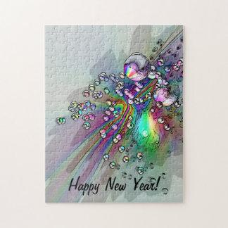 コルク-新年の泡--をぽんと鳴らします ジグソーパズル