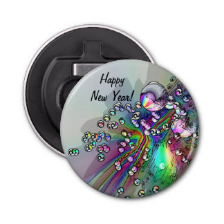 コルク-新年の泡--をぽんと鳴らします 栓抜き