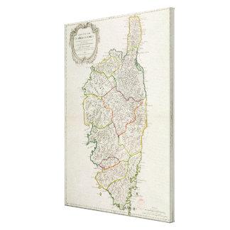 コルシカの地図 キャンバスプリント