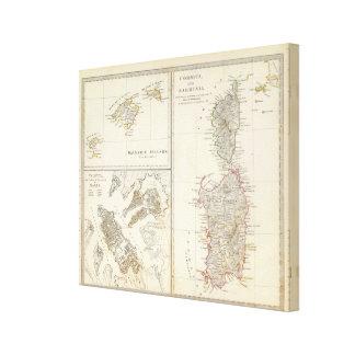 コルシカ、サルジニア、バレアレス諸島、バレッタ キャンバスプリント