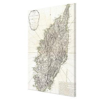 コルシカ(1794年)のヴィンテージの地図 キャンバスプリント