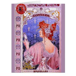 コルセットの広告1890年 カード